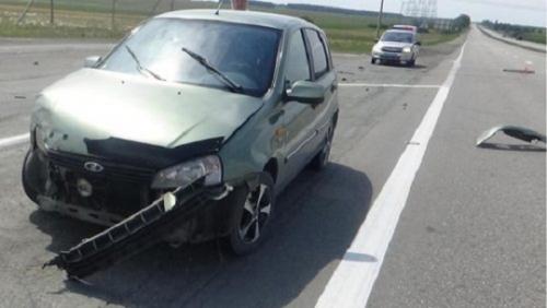 В аварии пострадали чесменцы. Их машине не уступила дорогу увельская «Лада Калина»