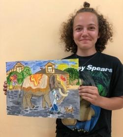 Осталась неделя. Ещё один рисунок из Чесмы отправился на областной конкурс юных талантов «Артишок»